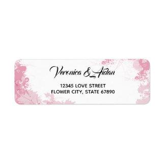 Étiquette rose de conception florale