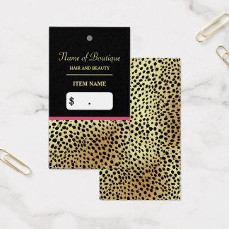 Étiquette rose de coup de boutique de beauté cartes de visite