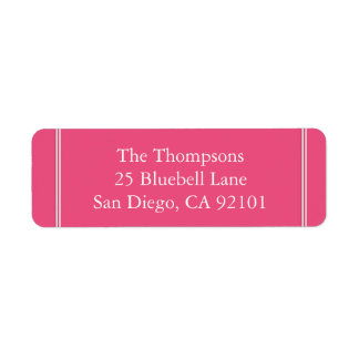 Étiquette Rose rose d'enchantement - couleur 2018 de Londres