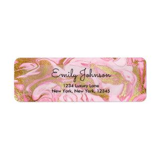 Étiquette Roses indien et anniversaire de marbre élégant de