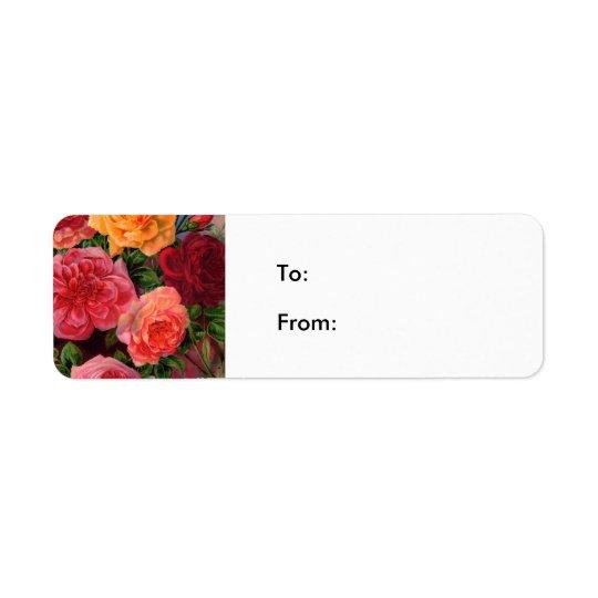 Étiquette Roses vibrants