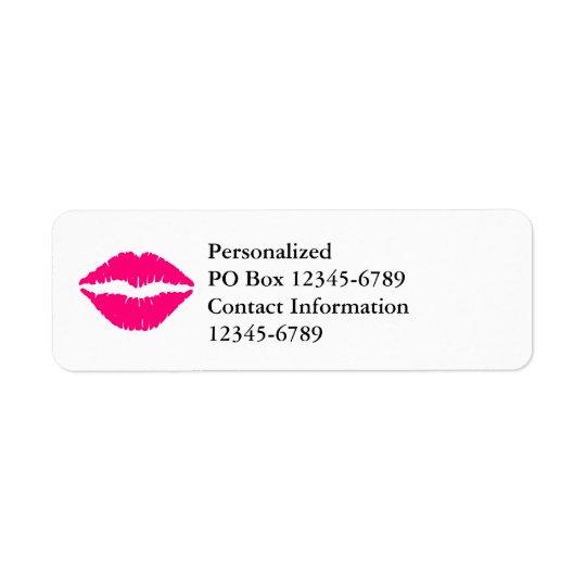 Étiquette Rouge à lèvres de roses indien
