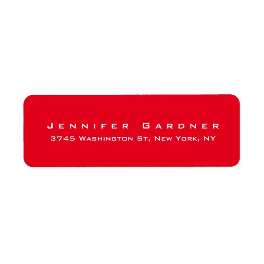 Étiquette Rouge lumineux élégant mignon élégant moderne
