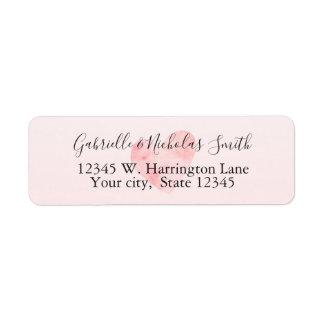 Étiquette Rougissent le coeur rose d'aquarelle