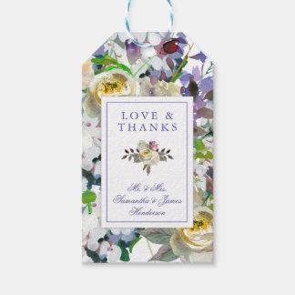 Étiquette rustique de cadeau de mariage de pivoine
