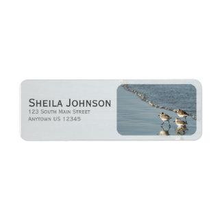 Étiquette Sable entre votre plage d'orteils personnalisée