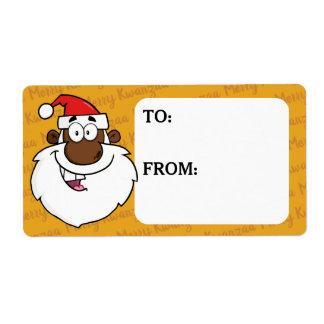 Étiquette Salutations de Kwanzaa de Noël de Père Noël