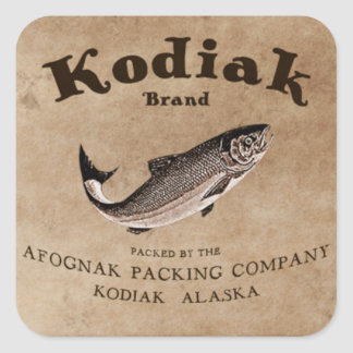 Étiquette saumoné de Kodiak vintage Sticker Carré