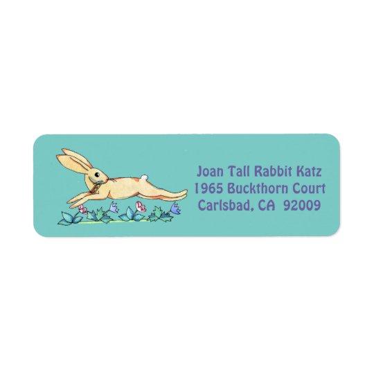 Étiquette sautant de lapin pour Joan