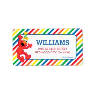 Étiquette Sesame Street | Elmo - anniversaire d'arc-en-ciel