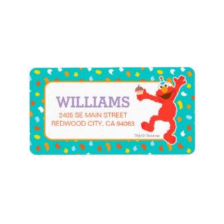 Étiquette Sesame Street | Elmo - anniversaire de petit
