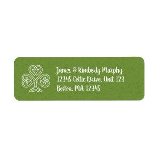 Étiquette Shamrock celtique de noeud
