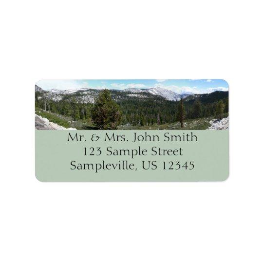 Étiquette Sierra montagnes de Nevada II de Yosemite