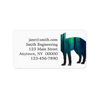 Étiquette Silhouette de Fox - renard de forêt - art de