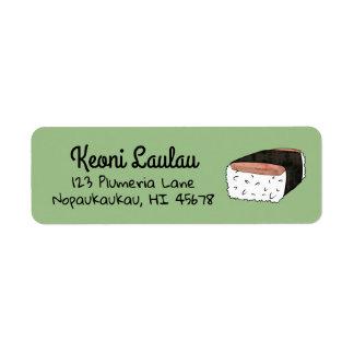 Étiquette Spam Musubi d'Ono d'étiquettes de adresse de
