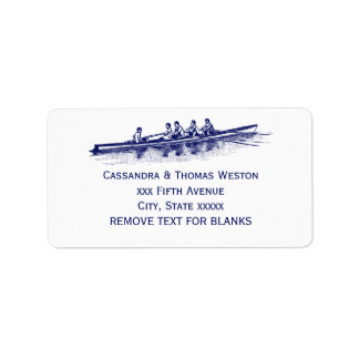 Étiquette Sports aquatiques bleus d'équipe d'équipage de