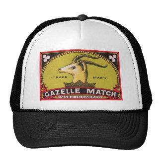 Étiquette suédois de boîte d'allumettes de gazelle casquette de camionneur