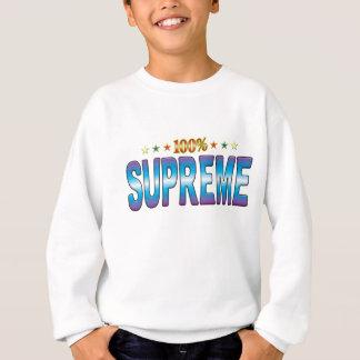 Étiquette suprême v2 d'étoile sweatshirt