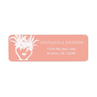 Étiquette Tableau de destination de palmier de pêche de