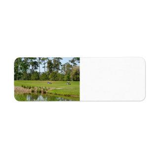 Étiquette terrain de golf la Floride