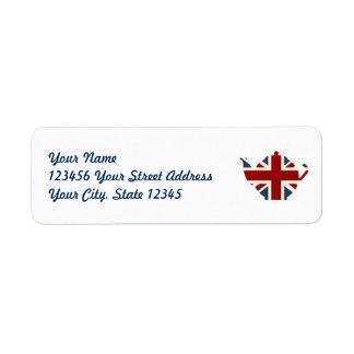 Étiquette Théière d'Union Jack les Anglais