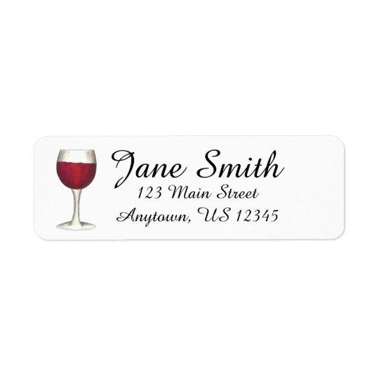 Étiquette Timbre d'étiquette de adresse personnalisé par