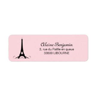 Étiquette Tour Eiffel rose de Paris