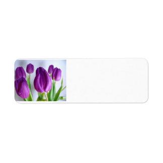 Étiquette Tulipe pourpre
