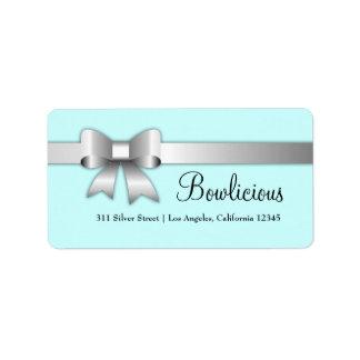 Étiquette turquoise d'étiquette de l'argent 311-Bow-Licious