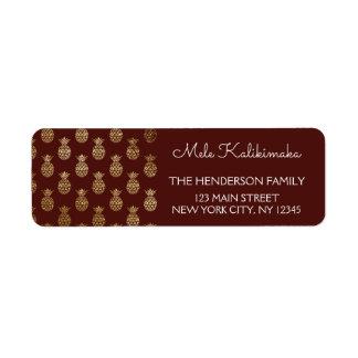 Étiquette Vacances de Noël d'ananas de Mele Kalikimaka