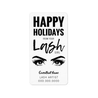 Étiquette Vacances heureuses de votre FILLE de MÈCHE