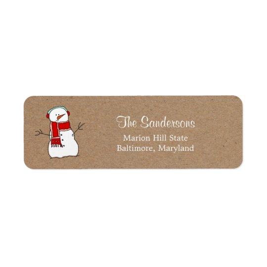 Étiquette Vacances rouges de papier d'emballage d'écharpe de