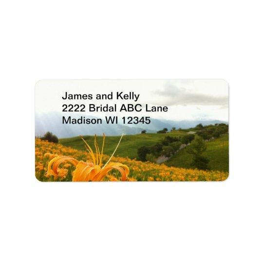 Étiquette Vallée d'or de fleur de Daylily