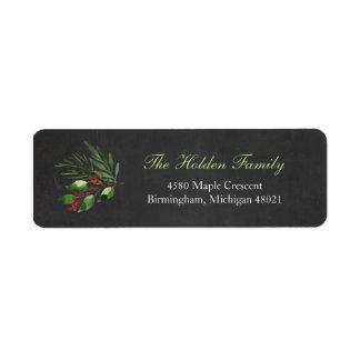 Étiquette Verdure de Noël