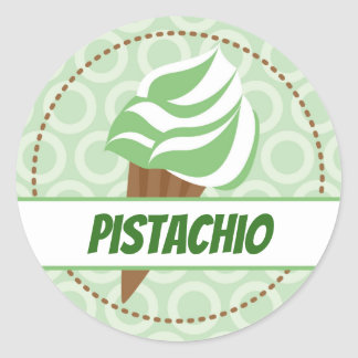 Étiquette vert de cercle de crème glacée