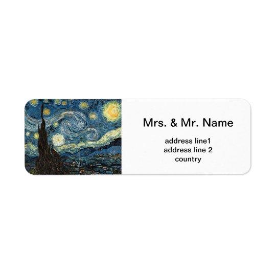 Étiquette Vincent van Gogh, nuit étoilée