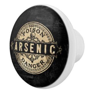 Étiquette vintage arsenical de poison de style