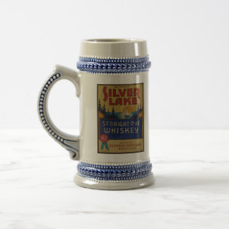 Étiquette vintage d'art d'alcool de whiskey chope à bière
