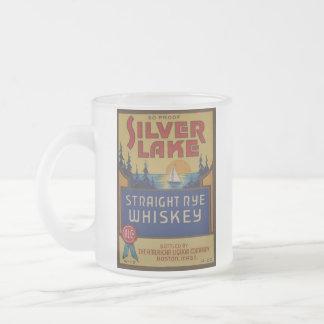 Étiquette vintage d'art d'alcool de whiskey mug en verre givré