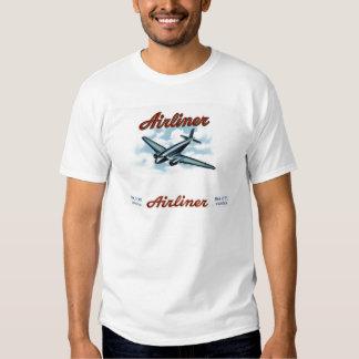 Étiquette vintage de boîte à cigares d'avion de t-shirts