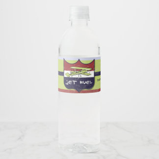 Étiquette vintage de bouteille d'eau de partie