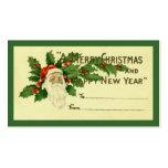 Étiquette vintage de cadeau de Noël Modèle De Carte De Visite