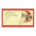 Étiquette vintage de cadeau de Noël Carte De Visite