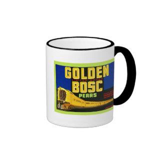 Étiquette vintage de caisse de fruit mug