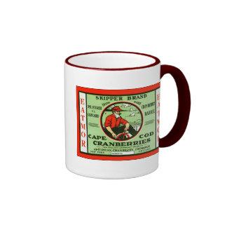 Étiquette vintage de caisse de fruit mugs