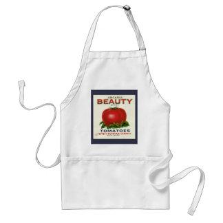 Étiquette vintage de caisse de fruit, tomates de tablier