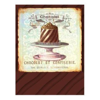 Étiquette vintage de Chocolat et de Confiserie Cartes Postales