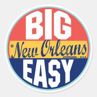Étiquette vintage de la Nouvelle-Orléans Sticker Rond