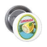 Étiquette vintage de Limonada Badge Avec Épingle