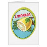 Étiquette vintage de Limonada Carte De Vœux